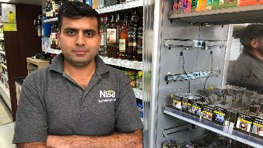 Zubair Aslam chased masked gang from his shop in Perthshire July 17 2019