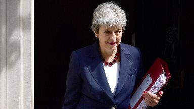 Theresa May leaves 10 Downing Street for last major speech July 17 2019.