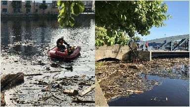 Water of Leith litter July 2019