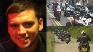 Steven Donaldson: Bikers turned out in memory of him.