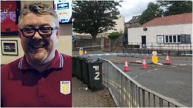 Andrew McCarron and scene where he died in Edinburgh July 2019