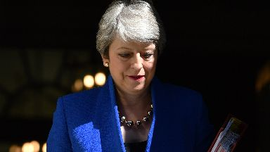 Theresa May Leaves Downing Street For Her Last PMQs July 24 2019.