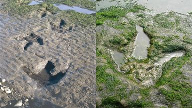 Legal protection: The site contains dinosaur fossils and footprints from the Jurassic age.