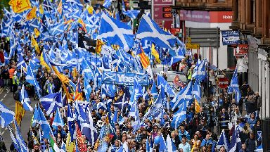 Pro independence march in Glasgow back in May 2019.