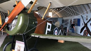 Sopwith Camel restored and on display at Montrose's Air Station Heritage Centre