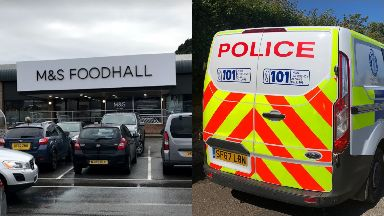M&S: A shop assistant was threatened. Oban Marks and Spencer