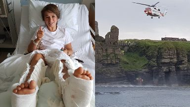 Rescue: Arthur Gaudin was stuck in a gully. Sinclair Castle Wick