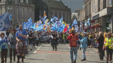 March: Thousands took part in the event.