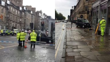 Edinburgh: A pedestrian was seriously injured. North Castle Street