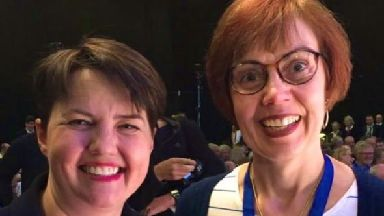 Ruth Davidson with Jane Lax.