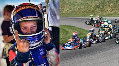 Aston Sharp: The eight-year-old is storming up the ranks. Go-karting