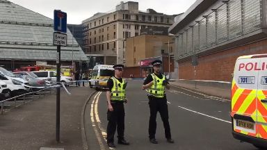 Death: An investigation is under way.  St Enoch Centre in Glasgow