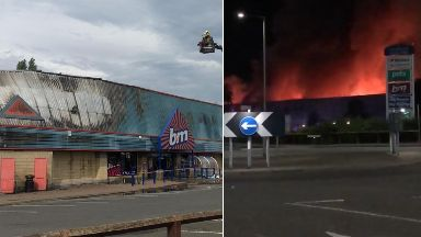 Perth: More than 50 firefighters were called. B&M Pets at Home St Catherine's Retail Park