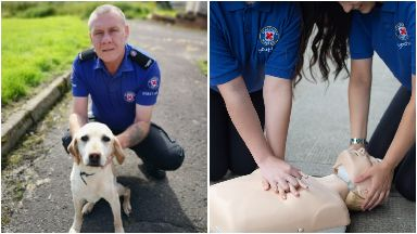 St Andrew's First Aid: Norman Milne used his skills to save his pet dog.