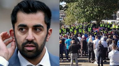 Humza Yousaf: The justice secretary has praised police.