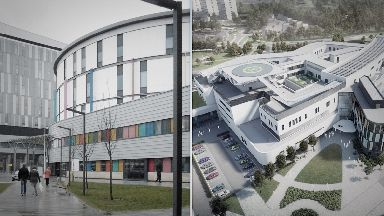 Collage of Glasgow and Edinburgh children's hospitals.