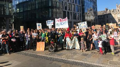 Climate change activists in Aberdeen September 2019