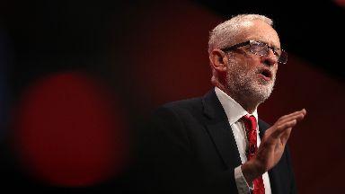 Jeremy Corbyn Labour conference speech Brighton September 24 2019.