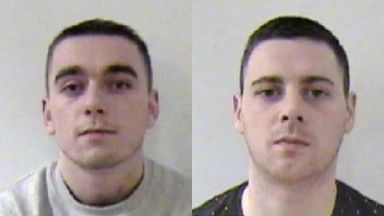 Jailed: Scott Pearson and Ryan Hunter.