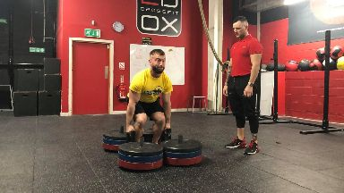 Strongman Dean McVie opens up about how sport helped him with mental health issues October 2019