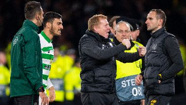 Lennon guided his side to a big Europa League win.