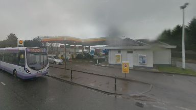 Robbery: The Shell was targeted earlier this month.