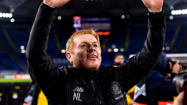 Neil Lennon after Lazio v Celtic November 2019