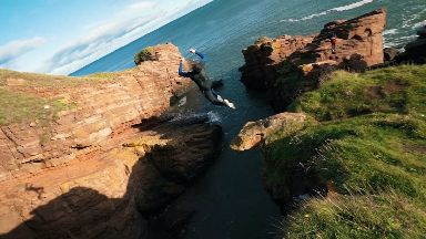 Lee Mitchell, from Arbroath, who jumps off cliffs