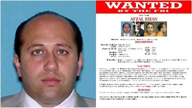 Afzal Khan and most wanted poster