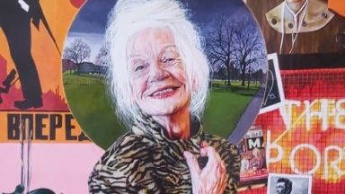 Portrait of Queen of Leith Mary Moriarty by Sarah Muirhead