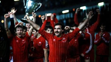 Willie Miller after winning the European Cup Winners' Cup