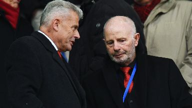 Aberdeen owner Stewart Milne and Aberdeen vice-chairman Dave Cormack