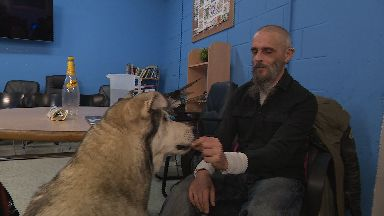 Wolfe Miller and dog Willow affected by hostels not accepting homeless people with pets