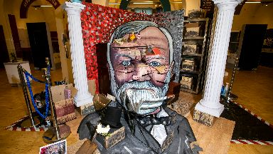 Artwork celebrating the life of Scots industrialist Andrew Carnegie