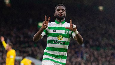 Odsonne Edouard is on the bench for Celtic.