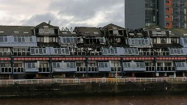 Fire damage - Lancefield Quay