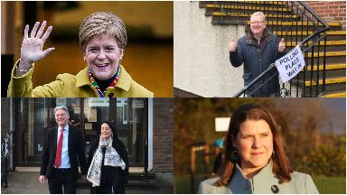 Nicola Sturgeon, Jackson Carlaw, Richard Leonard and Jo Swinson vote in general election December 12, 2019
