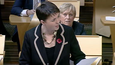 Ruth Davidson: Also urging Scottish Government to use new taxation powers.