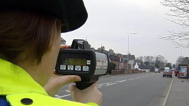 Speeding: A driver was caught doing 111mph in Falkirk (file pic).