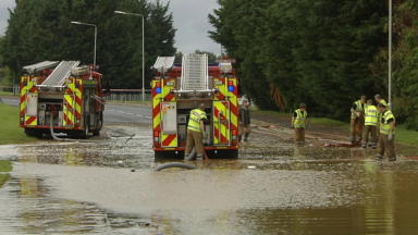 Rain: Parts of Scotland could be hit by flooding with heavy rain expected.
