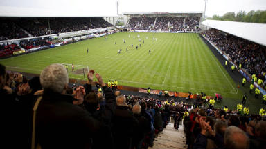 East End Park: Players were only paid 80% of their salary.