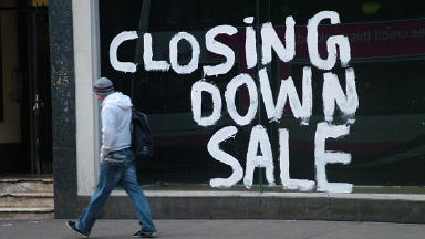 Struggle: The economic uncertainty has resulted in an increase in empty shops in many Scottish towns and cities.