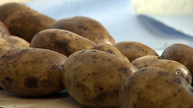 Potato: Merchant Scott Coupland was caught by HMRC (file pic).