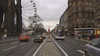 Princes Street: The attack happened on the main thoroughfare in Edinburgh (file pic).