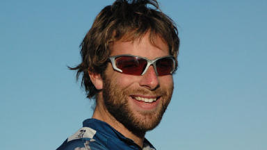 Cyclist: Mark Beaumont's scales mountain