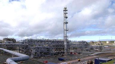 Sullom Voe: Shetland oil installation.