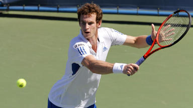 Andy Murray is safely through to the second round of the Australian Open, controlling his match with Robin Haase.