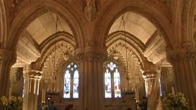 Rosslyn Chapel: bones have been discovered.