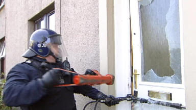Drugs raid: Officers targeted two houses in Edinburgh (file pic).