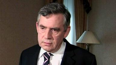 Condolences: Gordon Brown.